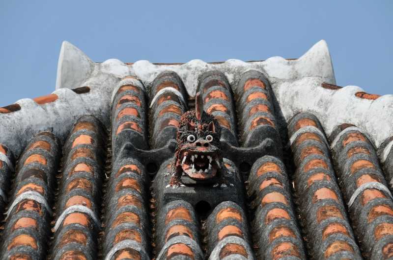 Shi-Sah lion is one of typical traditional view of OKINAWA