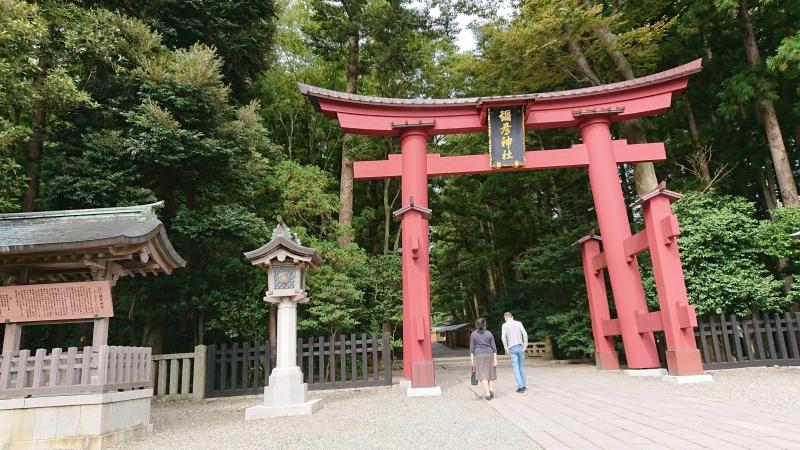 Entrance torii gate to Yahiko Shrine