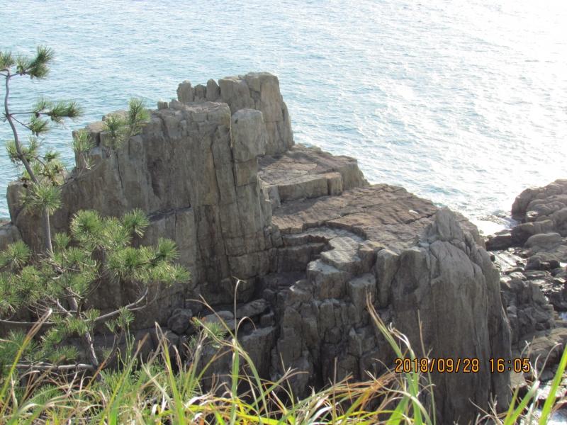 Three-step cliff at Tojinbo
