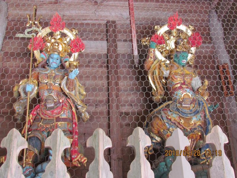 Four heavenly Kings at Sanmon of Eiheiji Temple