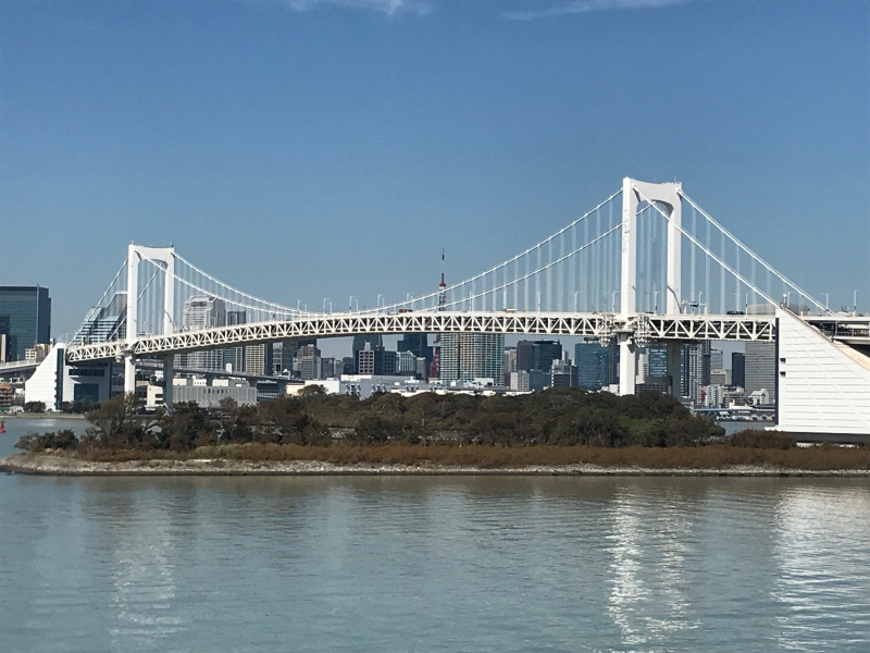 Rainbow Bridge with the Tokyo Skyline in the background. (#4)