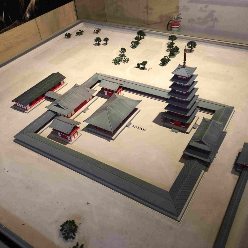 A scaled model of Kokubunji temple in 7th century.