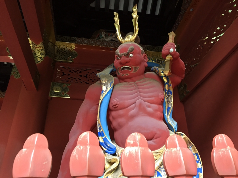 One of the Two Nio statues, Taiyuin.