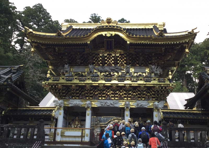 Tosho-Gu Shrine (Yomei-Mon Gate covered with more than 500 numerous very fine carvings)