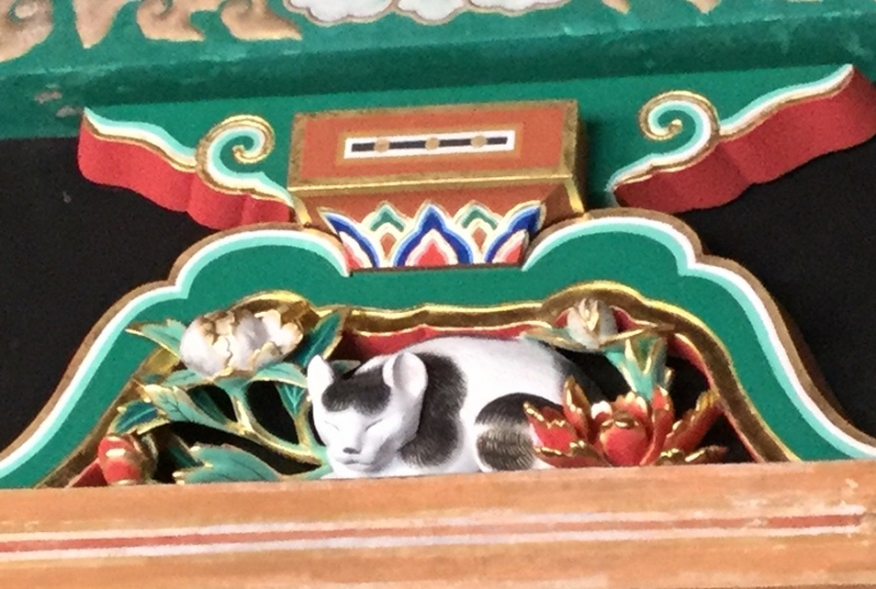 Tosho-Gu Shrine (The famous carving of the sleeping cat made by a famous sculptor Jingoro Hidari)
