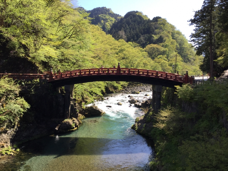 Shinkyo Bridge (This bridge was built to explore Nikko in 8th century.)