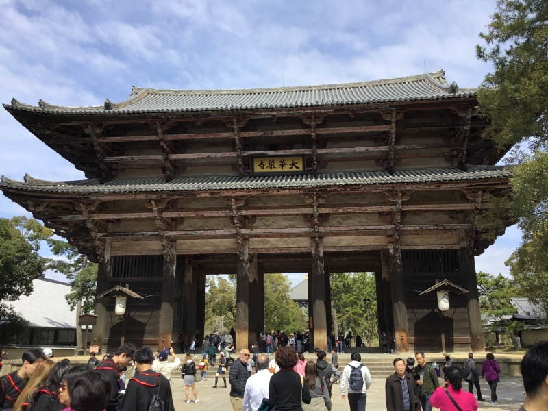 Todaiji temple was built in Nara era (8th century) by Emperor Shomu
