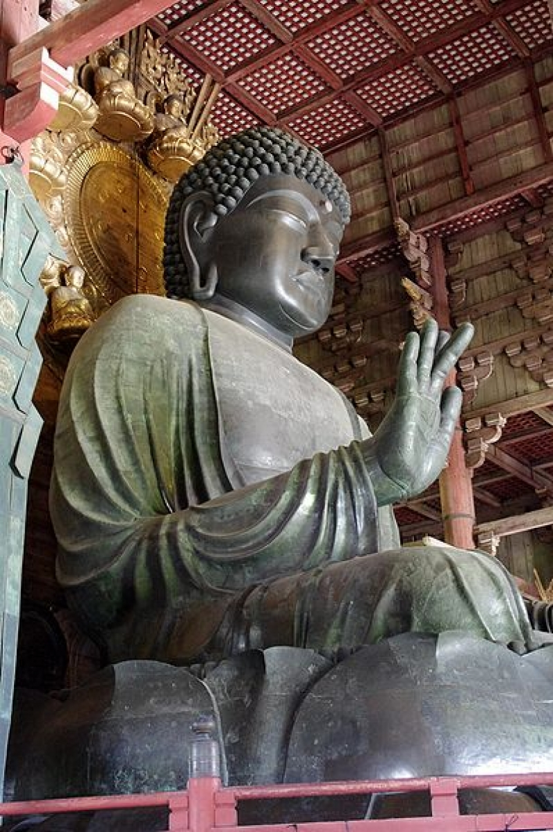 Current Great Buddha was re-built in Edo era ( beginning of 18th century).