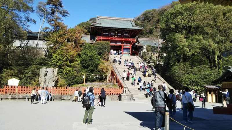 One of the most popular shrines for a new year's visit. More than 2 million people visit there in the first 3 days of each year.