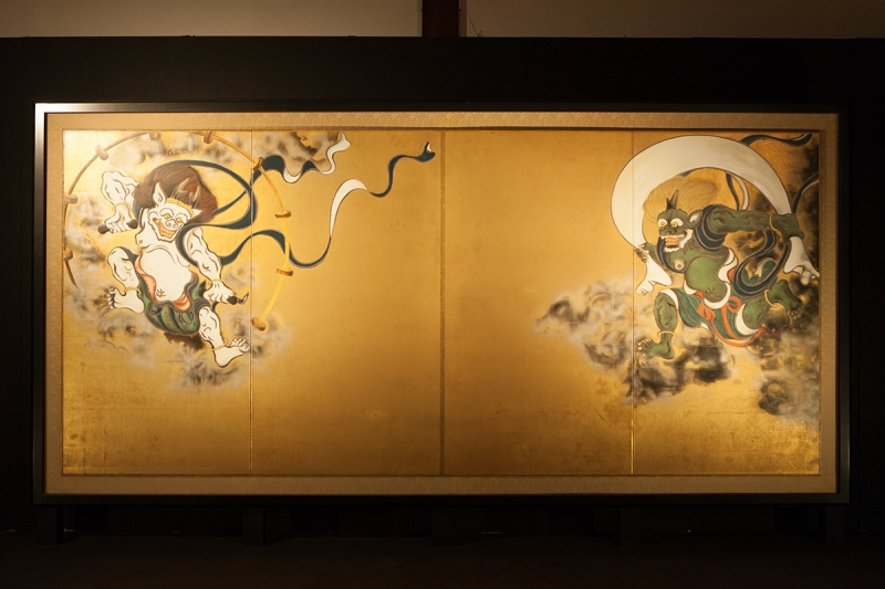 Wind God and Thunder God painting by Tawaraya Sotasu, a renowned early Edo period painter.