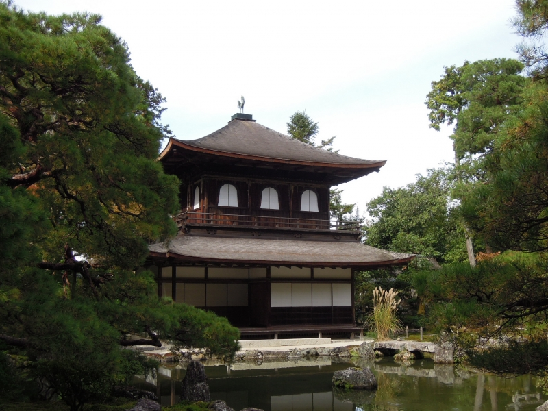 Ginkaku ( Silver Pavilion ) at Ginkaku-ji Temple