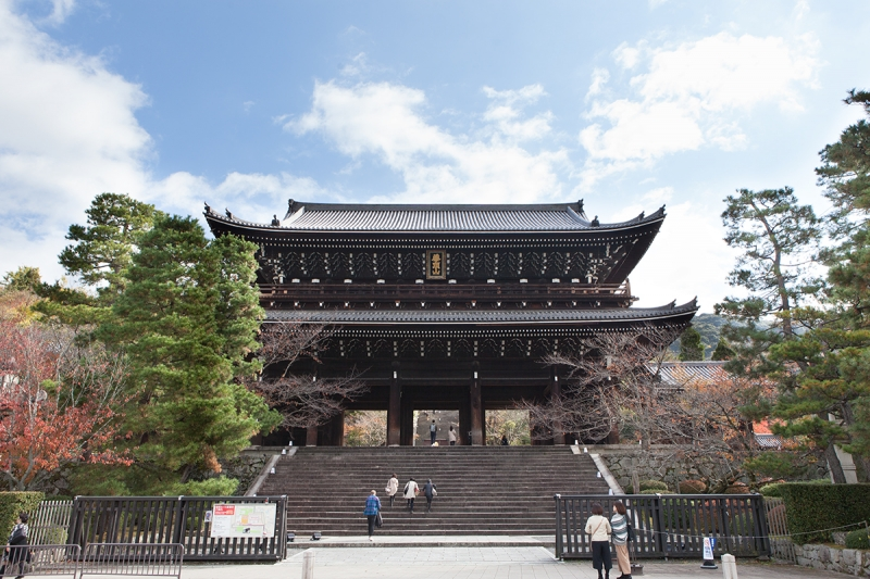 Sammon Gate to Chio-in Temple, one of the three greatest sammon gates in Japan