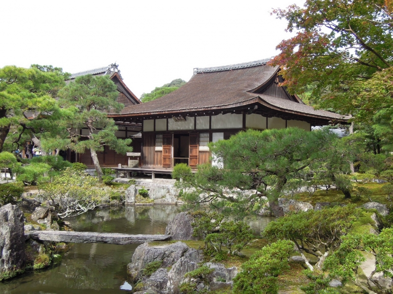 Tohgu-do Hall at Ginkaku-ji Temple, a national treasure