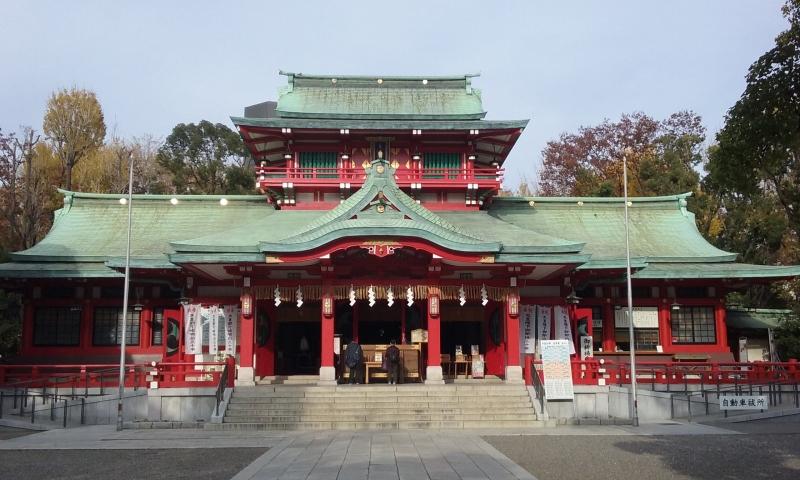 Il tempio shintoista Tomioka Hachimangu.