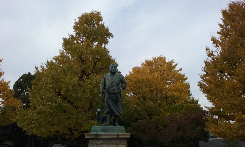 La statua del samurai Saigo Takamori nel parco di Ueno.