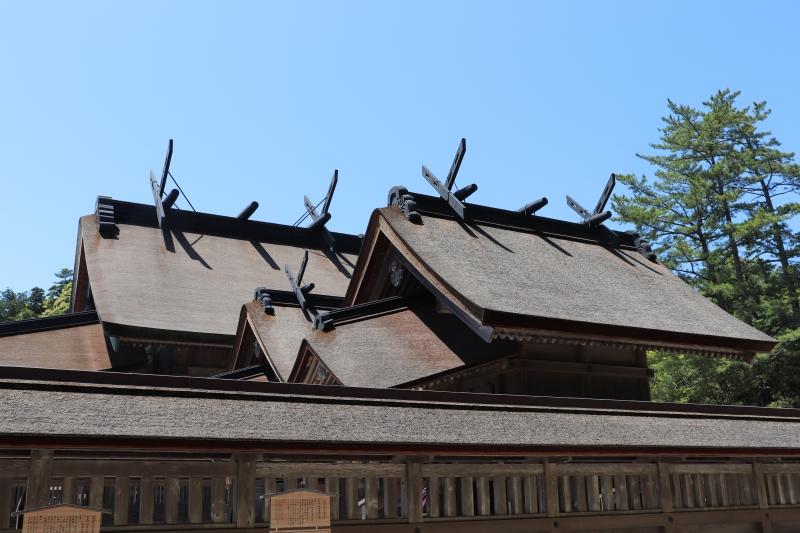 Izumo Taisha Grand Shrine: The inner shrine is constructed in the Taisha-zukuri style, Japan's oldest form  of shrine architecture.