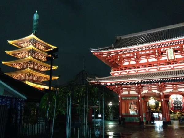 Illunminated Sensoji temple