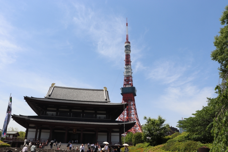5 Zojyou-ji temple and Tokyo Tower