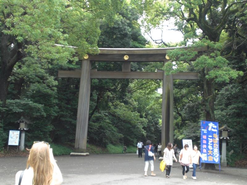 3 Meiji Grand Shrine  :Torii Gate (the entrance into the sanctuary)