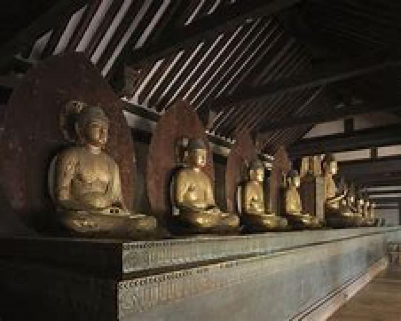 Buddha images in Jyoruri temple