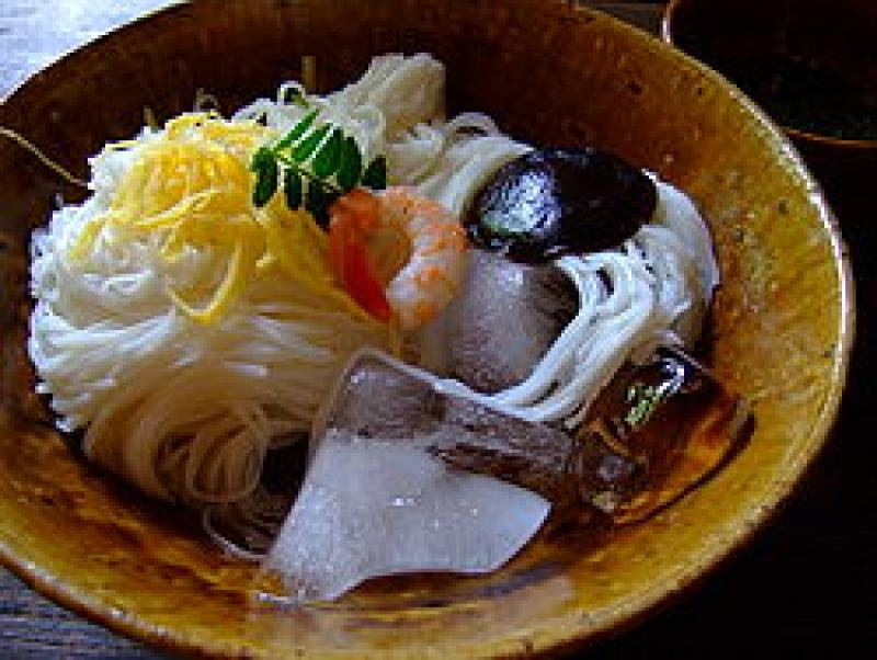 Miwa somen (local noodle dish)