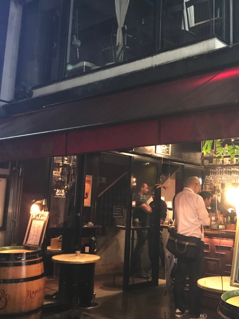 A standing bar at Masaoka alley