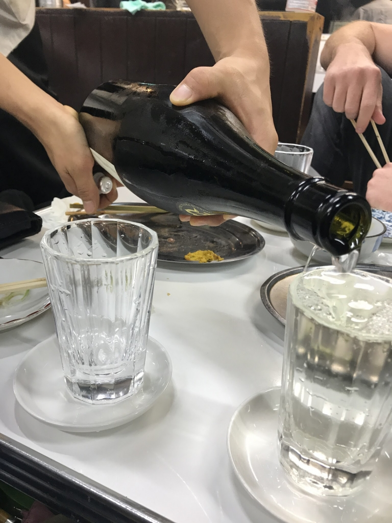 Sake at a Japanese style bar