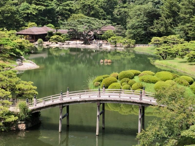 Ritsurin Garden, a Japanese style garden given 3 stars by the Michelin Green Guide Japan