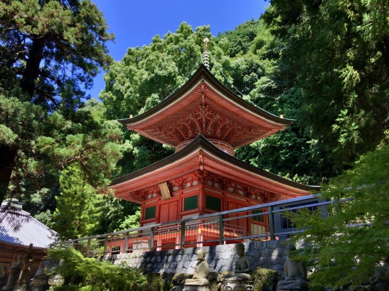 Yakuriji Temple, the 85th temple in Shikoku 88 temples,  tucked in a mountain