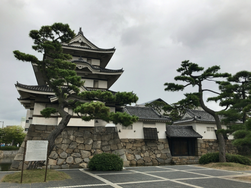 The ruins of Takamatsu Castle