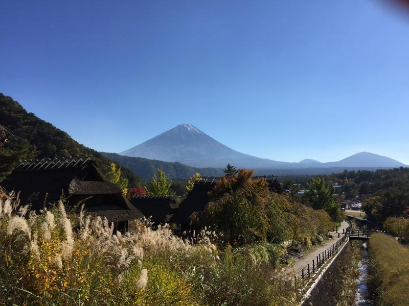 Mt.Fuji in the blue sky