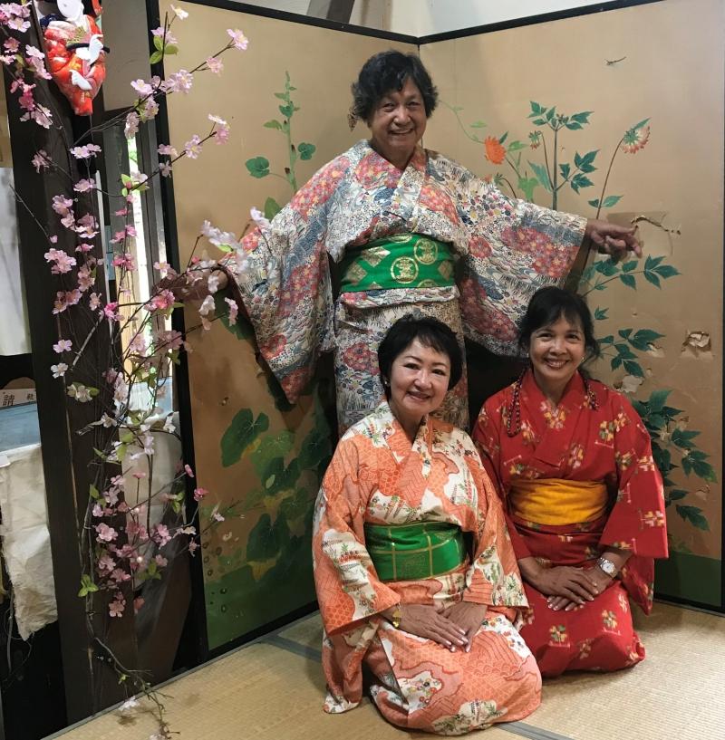 Let's take nice photos wearing kimono.