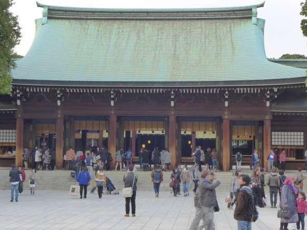 The main building of Meiji shrine
