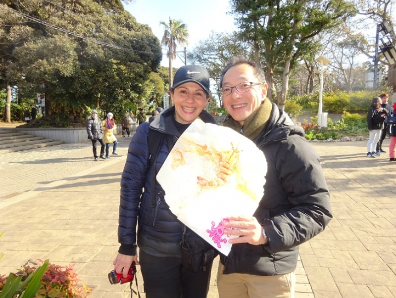 Shrimp rice cracker in Enoshima