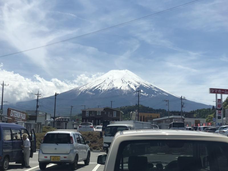Plain beautiful view of Fujiyoshida town