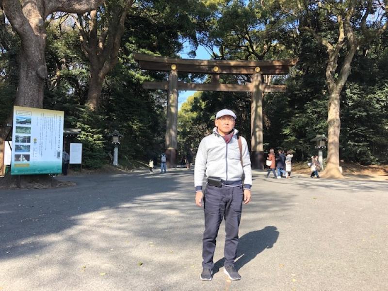 Front Torii-gate at Meiji Jingu Shrine
