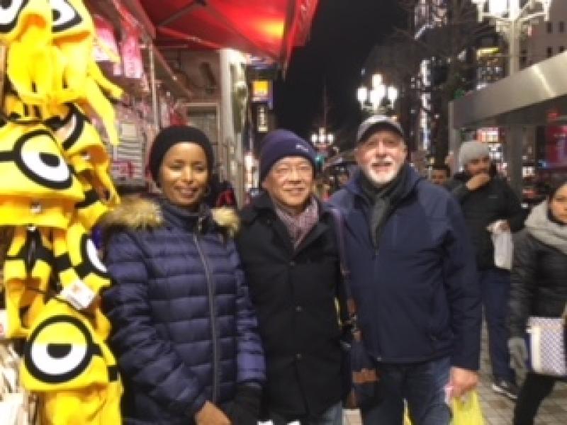 With my gentle tourists at Kabukicho