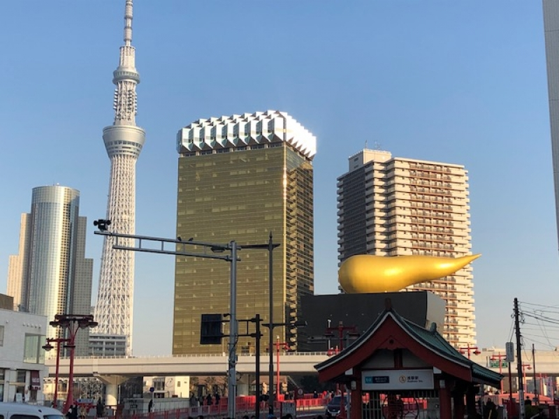 View of Sumida Riverside in Asakusa