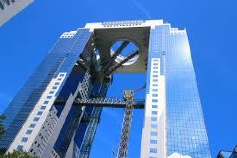 Umeda Sky Building is famous for its unique design of the structure and observatory at the top called Floating Garden.