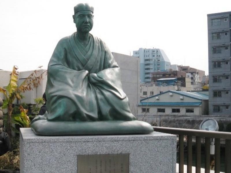Basho Statue along the Sumida river