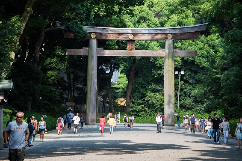 El santuario Meiji-Jingu