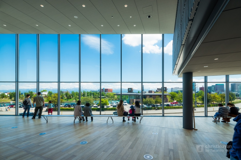 Inside view of Toyama Prefectural Museum of Art & Design