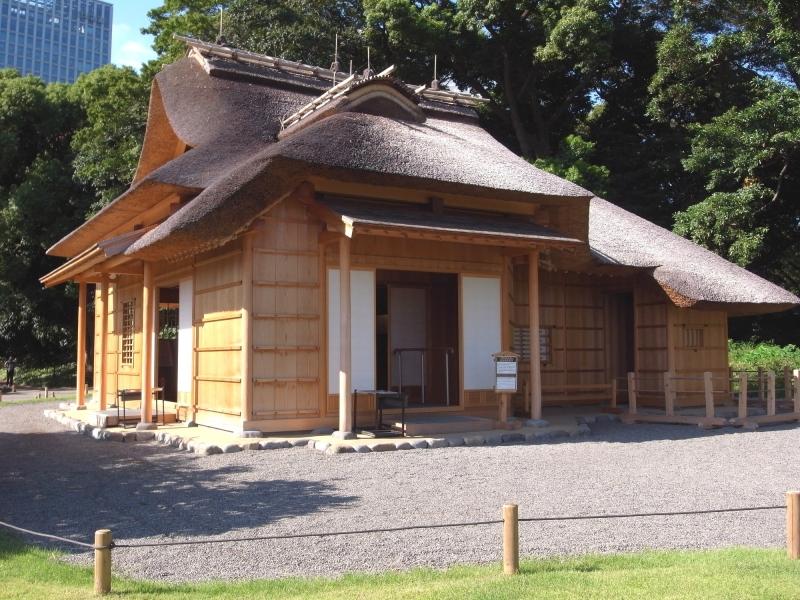 Tea house of Hamarikyuu garden