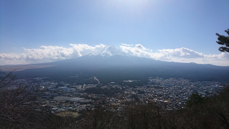 Mt. Fuji seen from the observation platform near the top station of the Ropeway