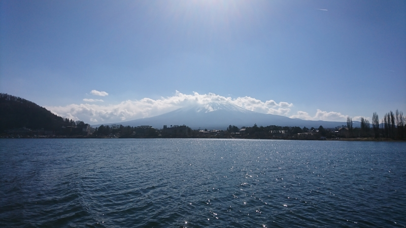 Mt. Fuji viwed from both the boat and the shores