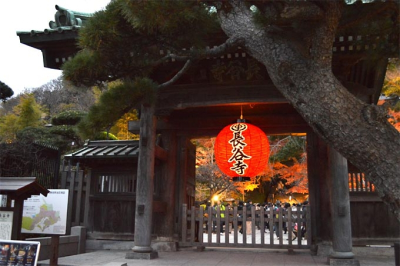 This is the entrance of Hasedera Temple.  Hase Kannon is the biggest sculpture in Japan.