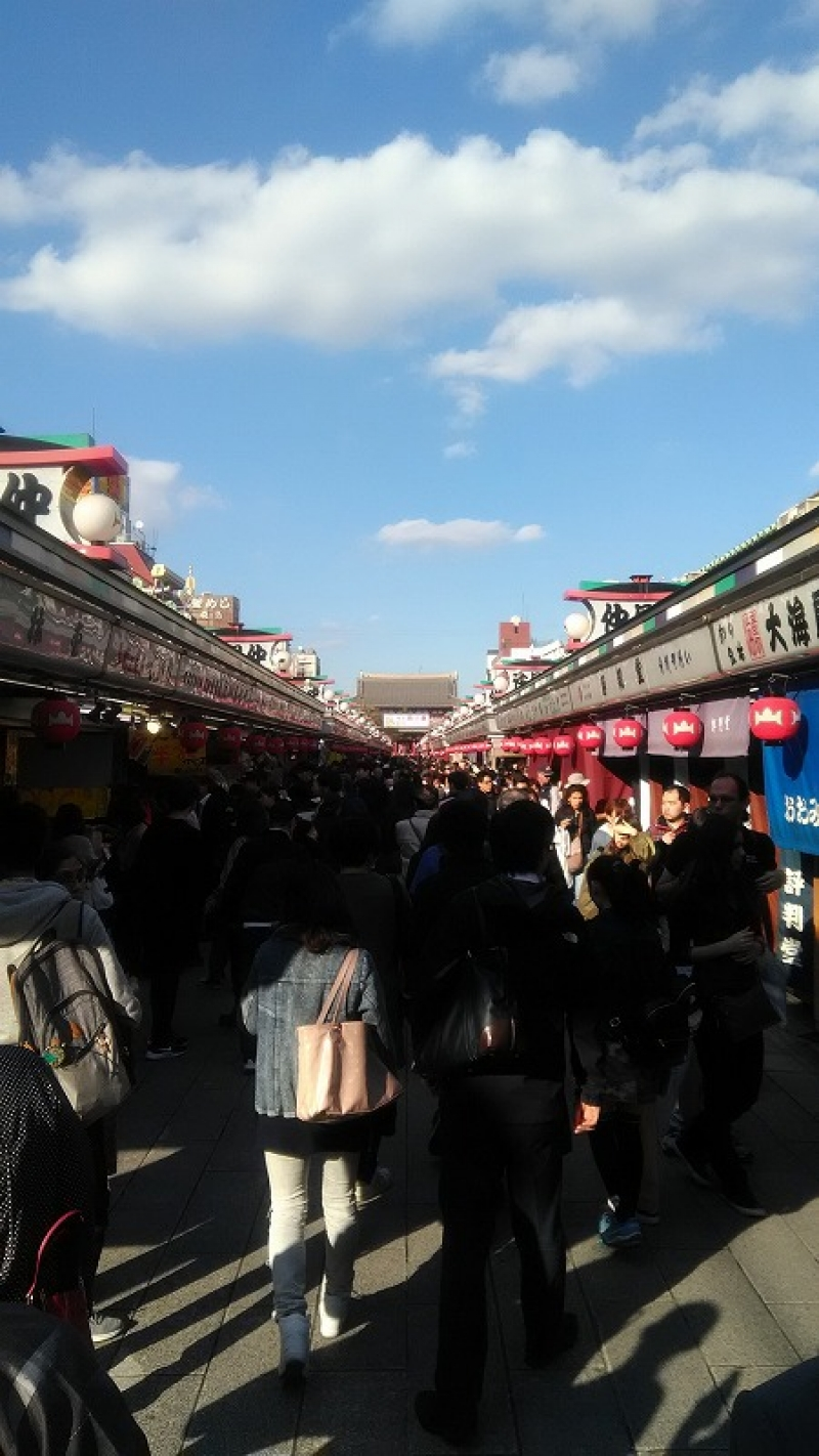 In Asakusa, there is a temple town that offer you souvenirs.