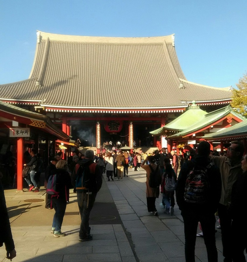 Senso-ji temple. It has had a long history since 7th century, though it had reconstructions repeatedly.