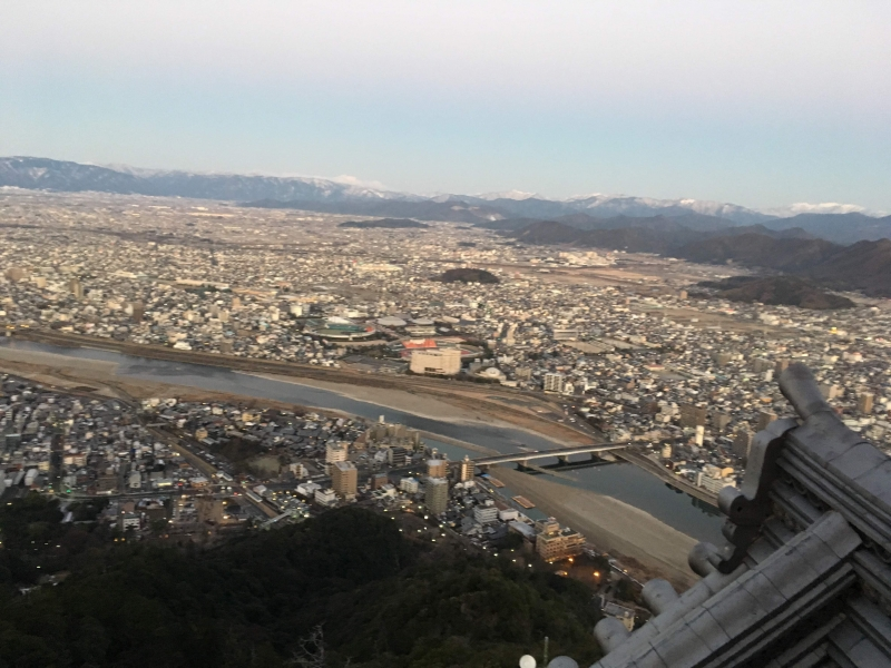 Nagara river & Gifu city View from Gifu castle