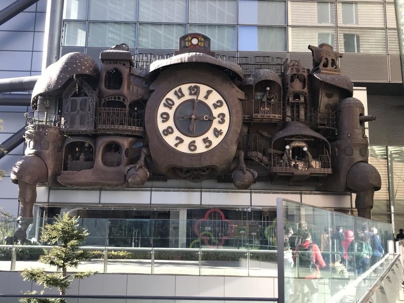 Big clock in Nippon TV building
